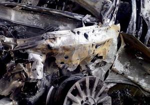 В Киеве сгорел внедорожник BMW X5. Милиция рассматривает версию поджога