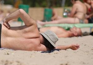 Киевляне открыли пляжный сезон