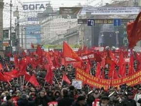 В Москве прошел марш в честь легендарного парада 1941 года