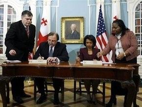 США и Грузия подписали хартию о стратегическом партнерстве