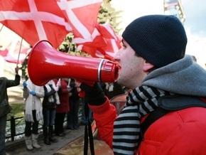 Милиция задержала участников акции у посольства Украины в Москве