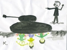 Фотогалерея: Война на Кавказе в  детских  рисунках
