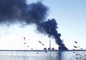 Власти обнародовали причину крупного пожара на Углегорской ТЭС в Донбассе