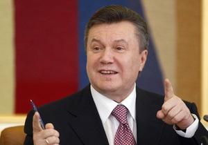 Янукович поблагодарил певца Зинкевича за популяризацию украинской культуры