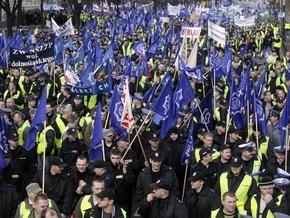 В Польше прошла акция протеста полицейских