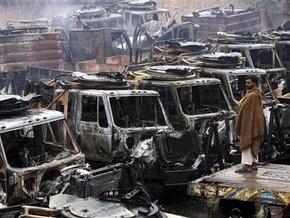 Талибы разгромили колонну с грузом для войск НАТО в Афганистане
