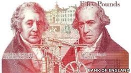 Британия: выпущена в обращение новая банкнота в 50 фунтов