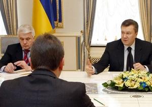 Янукович и Литвин решили посоветоваться с фракциями относительно даты местных выборов