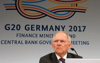 Министр финансов Германии Шойбле: G20 может избегать вопроса торговли из-за разногласий сСША