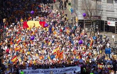 У Барселоні тисячі людей протестували проти сепаратистського руху