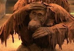 В Париже создали шоколадный лес из фильма Планета обезьян с 15-метровым деревом