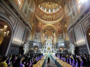 В Москве прошла церемония наречения митрополита Кирилла патриархом