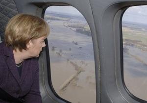 Наводнение в Германии: Меркель лично осмотрит зоны бедствия