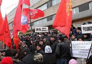 Запорожские коммунисты пытались взять штурмом здание, где выступал Тягнибок