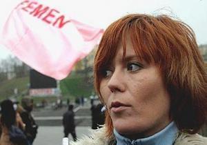 После заявлений Януковича милиция допросила лидера FEMEN Анну Гуцол