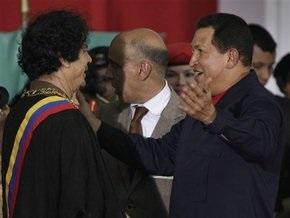 Каддафи и Чавес договорились вместе бороться с государственным терроризмом