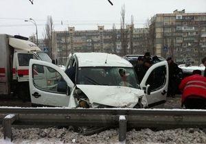 В Киеве в результате ДТП пострадала семья