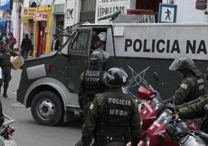 В Боливии задержан автомобиль посольства США с грузом оружия