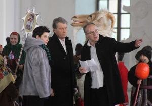 Фотогалерея: Рождественское обращение Ющенко. Репортаж из-за кулис