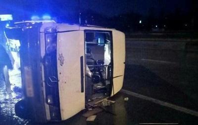 У Запоріжжі під час ДТП з маршруткою постраждали восьмеро людей