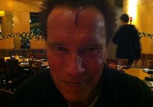 Шварценеггер разбил лоб на съемках нового фильма