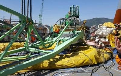 В итоге падения крана вЮжной Корее погибли 5 человек