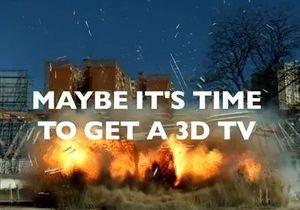 Sony выпускает в телеэфир 3D-рекламу о футболе