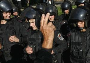 Сторонники Тимошенко перекрыли автомобильное движение на Крещатике