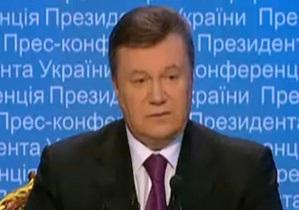 Янукович заявил, что потратил на благотворительность 7,5 млн грн