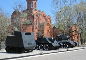 В Одессе советские танки покрасили в цвета Третьего рейха