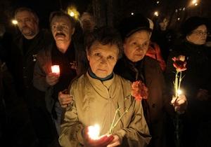 Фотогалерея: 27 лет спустя. Украинцы почтили память погибших во время ликвидации аварии на ЧАЭС