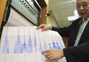 У берегов Японии зафиксировано сильное землетрясение