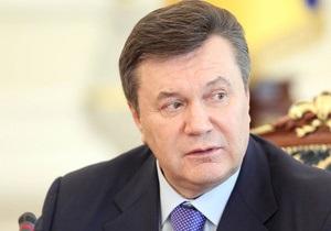 Янукович присвоил двум шахтерам звание Героя Украины