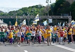 День Киева - В Киеве проходит Пробег под каштанами: более 13 тыс человек стали участниками акции