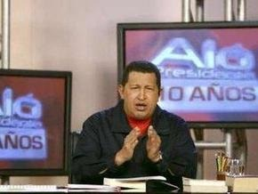 Чавес прервал телемарафон, которым отмечает 10-летний юбилей своей программы