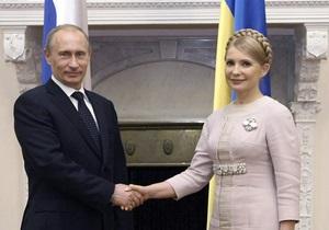 Путин и Тимошенко обсудили сотрудничество стран