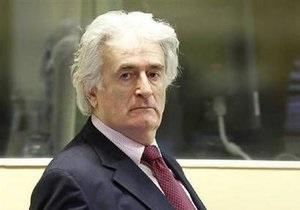 Караджич отказался от предложенного ему судом британского адвоката