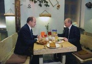 Путин встретился в Москве с князем Монако за ужином в ресторане