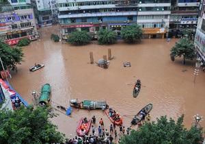 Из-за наводнений 100 тысяч китайцев были вынуждены покинуть свои дома