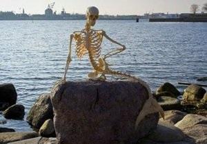 В Копенгагене выставили скелет вымершей русалки
