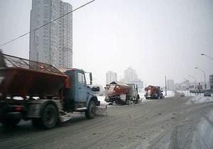Киевские власти заготовили на зиму 28 тыс. тонн технической соли