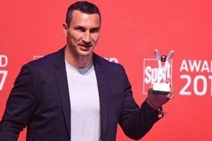 Кличко получил награду SPORT BILD Award 2017