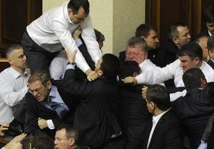Парламент утвердил порядок освещения своей работы - Верховная Рада - Драки - Табаловы