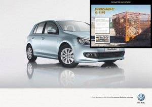 Volkswagen разрешил защитникам природы заклеить свою рекламу в Африке
