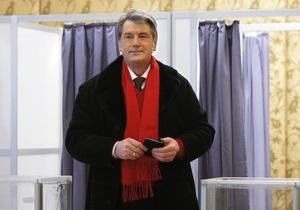 Фотогалерея: Они голосуют. Янукович, Тимошенко и Ющенко на избирательных участках