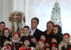 Ющенко встретит Новый год в резиденции на западе Украины
