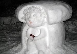 Под Киевом появился парк снежных скульптур