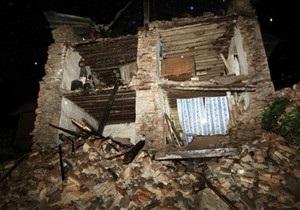 Землетрясение в Индии: число жертв возросло до 18 человек