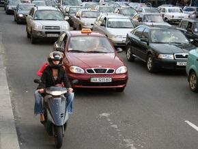 В Киеве появилось мототакси