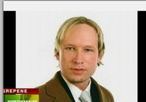 Норвежский террорист потребовал судить его в открытом режиме